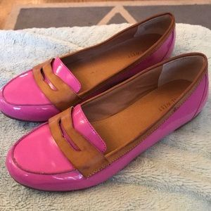 💕Nine west size 8 loafer flats. So cute, pink